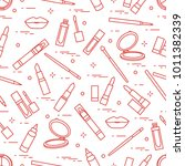 seamless pattern of different... | Shutterstock .eps vector #1011382339