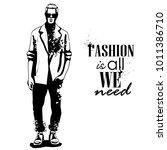 vector man model dressed | Shutterstock .eps vector #1011386710