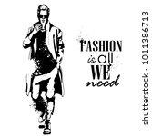 vector man model dressed | Shutterstock .eps vector #1011386713