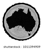 map of australia on a timber...   Shutterstock . vector #1011394909