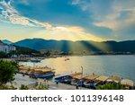 icmeler beach  popular beach... | Shutterstock . vector #1011396148
