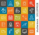 business outline vector icon... | Shutterstock .eps vector #1011399028