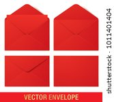 set of red vector envelopes in...   Shutterstock .eps vector #1011401404