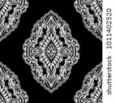 damask paisley pattern. ethnic... | Shutterstock . vector #1011402520