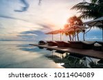 welcome to luxury in maldives | Shutterstock . vector #1011404089
