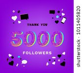 5k followers thank you banner... | Shutterstock .eps vector #1011405820