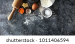 baking ingredients for homemade ... | Shutterstock . vector #1011406594
