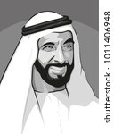 sheikh zayed  founder of united ... | Shutterstock .eps vector #1011406948