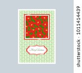 poinsettia with bells  card.... | Shutterstock . vector #1011414439