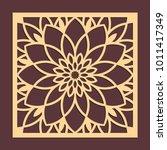 laser cutting panel. golden... | Shutterstock .eps vector #1011417349