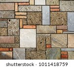 stone texture. wall with bricks ... | Shutterstock . vector #1011418759