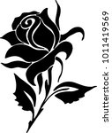 vector rose icon | Shutterstock .eps vector #1011419569