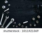 tools for car repair in... | Shutterstock . vector #1011421369