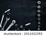 tools for car repair in... | Shutterstock . vector #1011421393