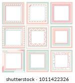 pastel sweet vintage frame... | Shutterstock .eps vector #1011422326