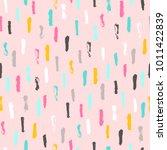 paint texture brush strokes.... | Shutterstock .eps vector #1011422839