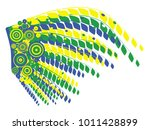 brazil carnival. beautiful... | Shutterstock .eps vector #1011428899