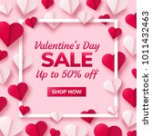 valentines day sale background... | Shutterstock .eps vector #1011432463