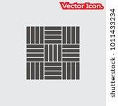 parquet floor icon isolated... | Shutterstock .eps vector #1011433234