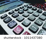 closeup of calculators | Shutterstock . vector #1011437380