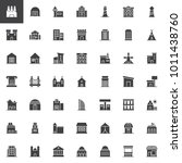 buildings vector icons set ... | Shutterstock .eps vector #1011438760