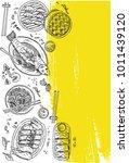chinese food flyer design....   Shutterstock .eps vector #1011439120