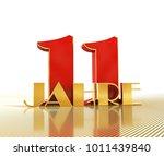 golden number eleven  number 11 ...   Shutterstock . vector #1011439840