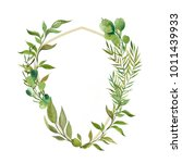wreaths and design elements... | Shutterstock . vector #1011439933