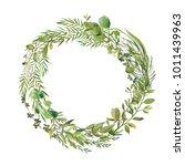 wreaths and design elements... | Shutterstock . vector #1011439963