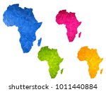 africa map   set of geometric... | Shutterstock .eps vector #1011440884