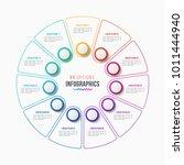 vector 11 parts infographic... | Shutterstock .eps vector #1011444940