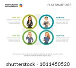 four workers team slide template | Shutterstock .eps vector #1011450520