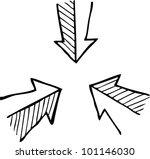 simple sketch of three arrows | Shutterstock .eps vector #101146030