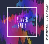 summer party poster. colored...   Shutterstock .eps vector #1011460684