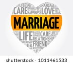 marriage word cloud collage ... | Shutterstock .eps vector #1011461533