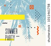summer party  modern poster...   Shutterstock .eps vector #1011461758
