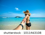 romantic scene of young love... | Shutterstock . vector #1011463108