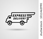 speedy express delivery wagon... | Shutterstock .eps vector #1011463990