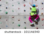 Youngster\'s Effort In Climbing...