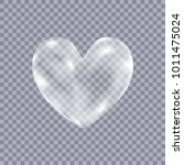 realistic transparent white ... | Shutterstock .eps vector #1011475024