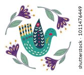 illustration with birds and... | Shutterstock .eps vector #1011476449