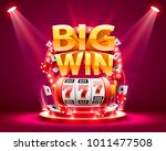big win slots 777 banner casino.... | Shutterstock .eps vector #1011477508