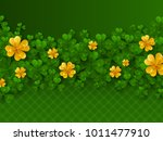 saint patrick's day border with ...   Shutterstock .eps vector #1011477910
