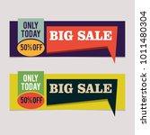 banner big sale discount offer... | Shutterstock .eps vector #1011480304
