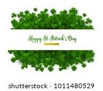 saint patrick's day greeting... | Shutterstock .eps vector #1011480529
