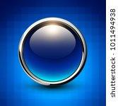 button blue shiny metallic on... | Shutterstock .eps vector #1011494938