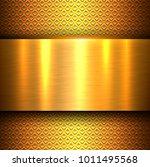 metal background  orange gold... | Shutterstock .eps vector #1011495568