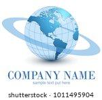 logo earth globe  blue planet... | Shutterstock .eps vector #1011495904