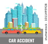 car accident concept. city... | Shutterstock .eps vector #1011495928