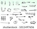 doodle hand drawn vector arrows | Shutterstock .eps vector #1011497656